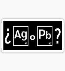 ¿ Ag o Pb ? Sticker