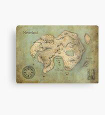 Peter Pan Neverland Map Metal Print