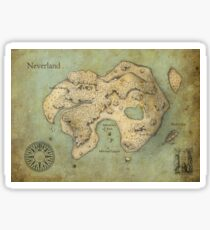 Peter Pan Neverland Map Sticker