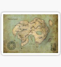 Peter Pan Neverland Map Sticker