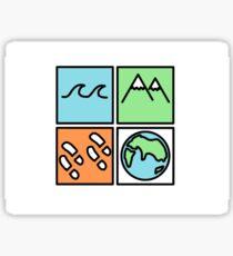 Mediocre Travelers Sticker  Sticker