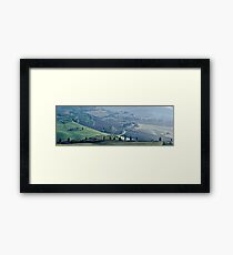 Val d'Orcia, Panorama Framed Print