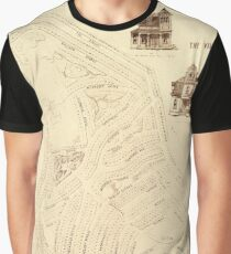 Map Of Marthas Vineyard 1866 Graphic T-Shirt