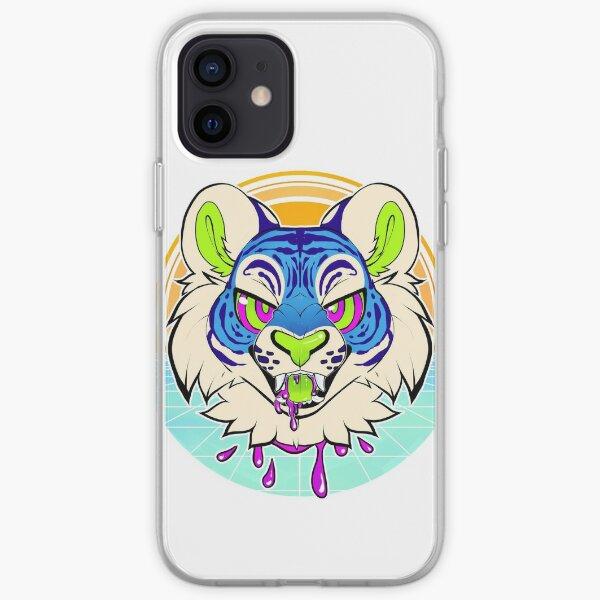 Tiger Vaporwave iPhone Soft Case