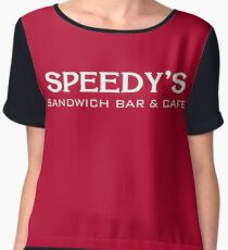 Speedy's Sandwich Bar & Cafe Chiffon Top