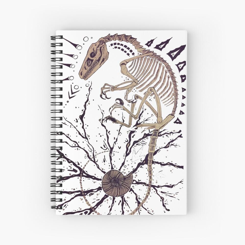 Diseño de esqueleto de raptor horizontal Cuaderno de espiral