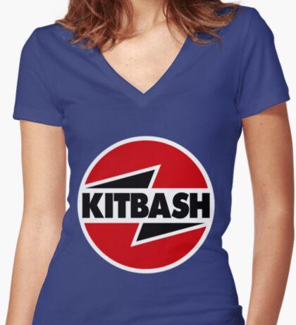 Kitbash Women's Fitted V-Neck T-Shirt
