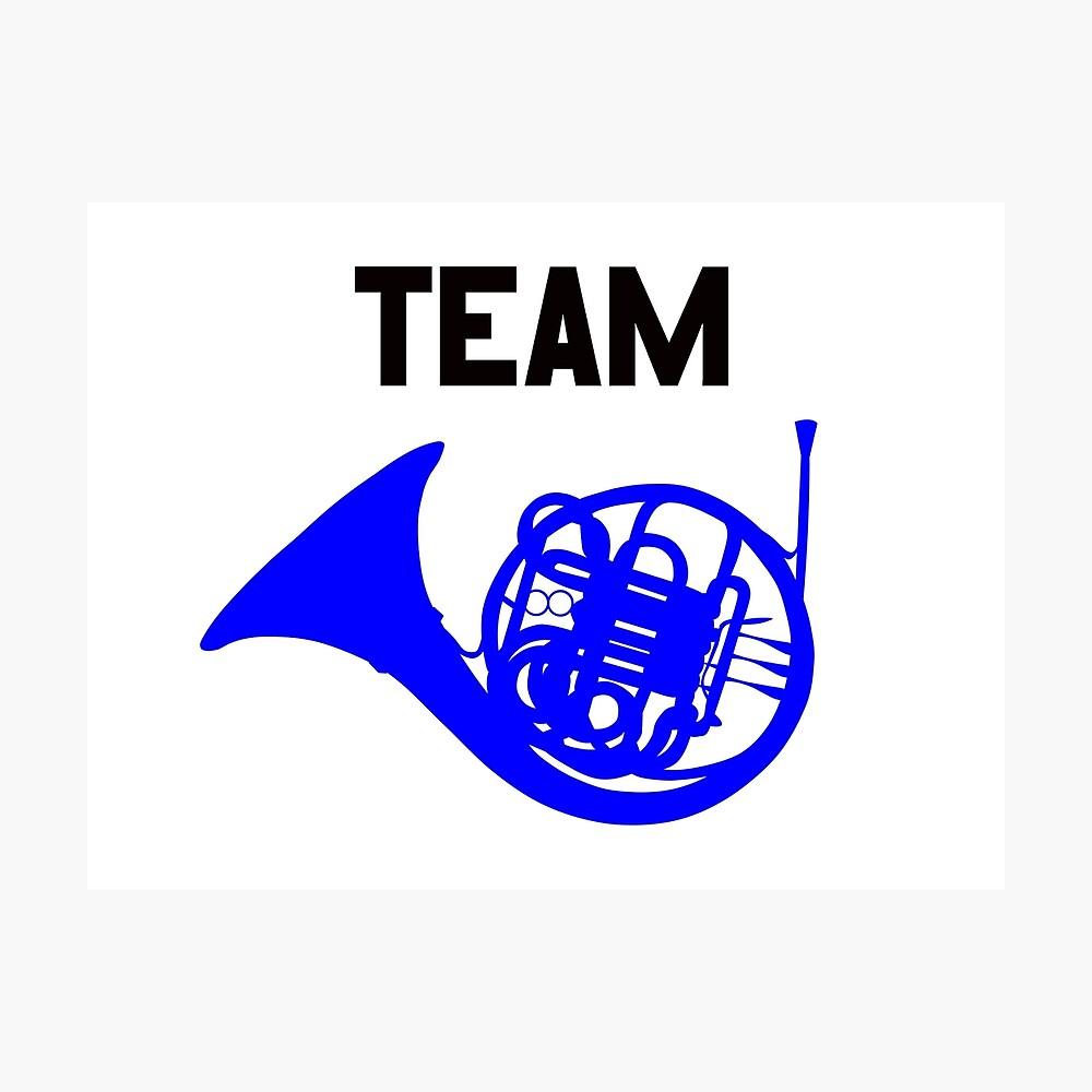 Team Blue Französisch Horn - Ted, Robin, HIMYM Fotodruck