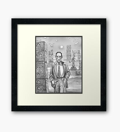 HP Lovecraft - Explorer of Strange Worlds Framed Print