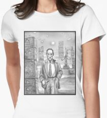 HP Lovecraft - Explorer of Strange Worlds Womens Fitted T-Shirt