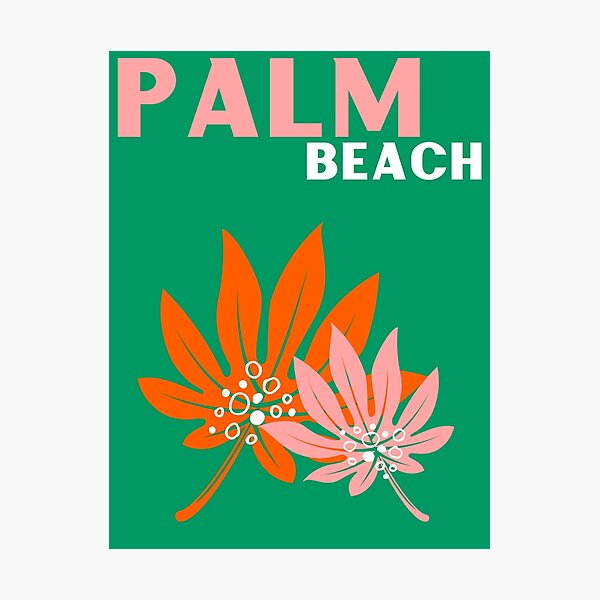 PALM BEACH Photographic Print