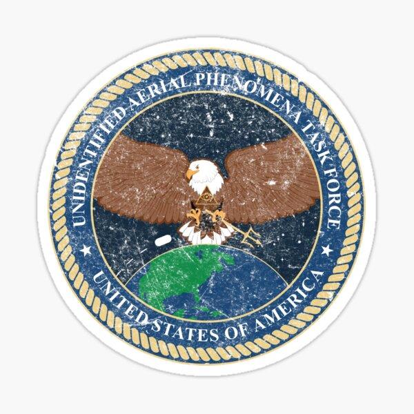 Unidentified Aerial Phenomena Task Force (UAPTF) Insignia - Grunge Textured Sticker