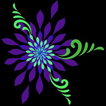 Flowered Spiral Dark by Harleythemk