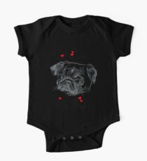I Love My Pug!  One Piece - Short Sleeve