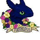 Flower Toothless by tobiejade