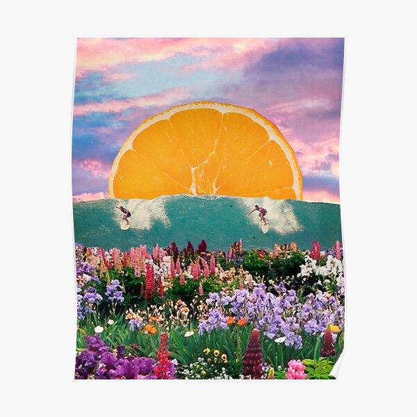 surfing wild flowers Poster