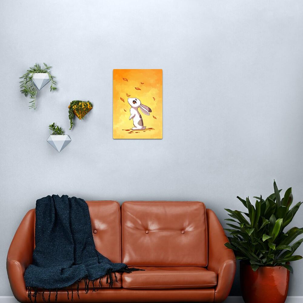 Autumn Hare Metal Print
