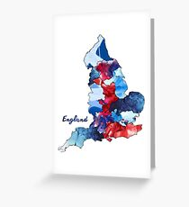 Watercolor Countries - England Greeting Card