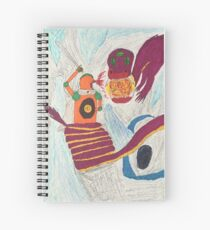 Dragon fighting robot  Spiral Notebook