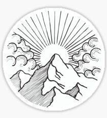 Mountain Circle Sticker