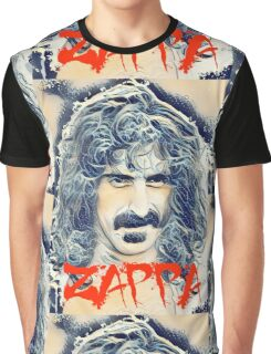 Frank Zappa and the Great Wave Off Kanagawa Graphic T-Shirt