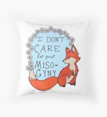 Feminist Fox Throw Pillow