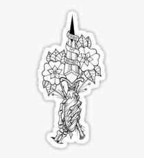 The Amity Affliction Dagger Sticker