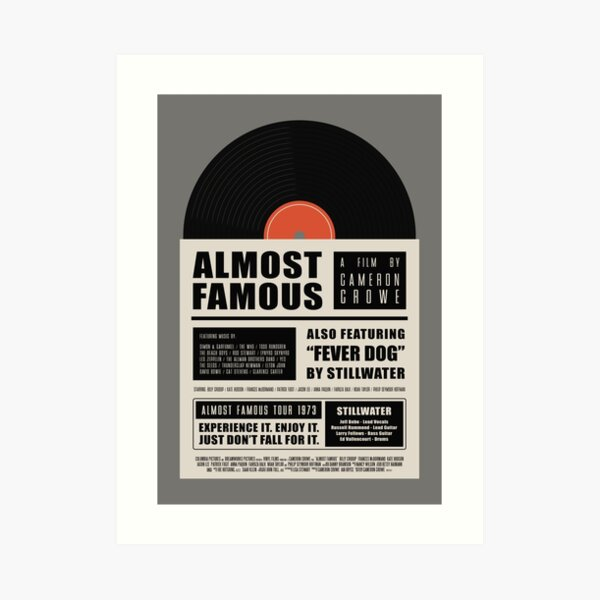 Almost Famous film poster Art Print