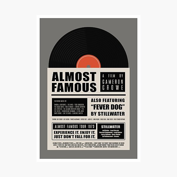 Almost Famous film poster Photographic Print