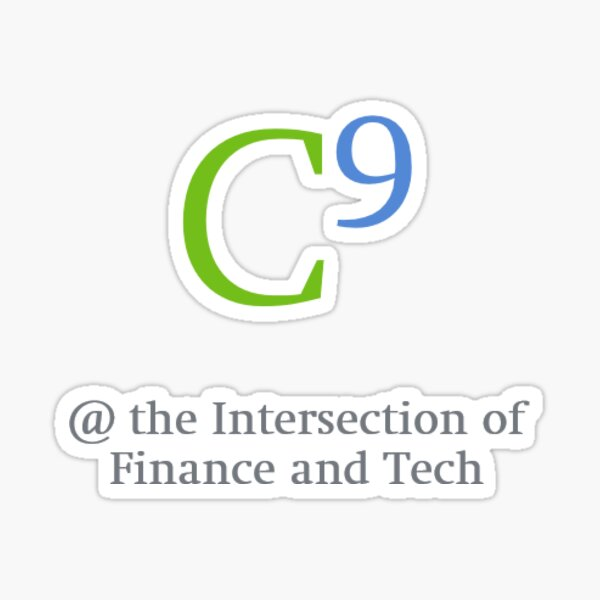 C9 Sticker - At the Intersection of Finance and Technology Sticker