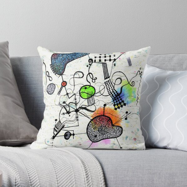 A work not by a deceased Spanish artist Throw Pillow