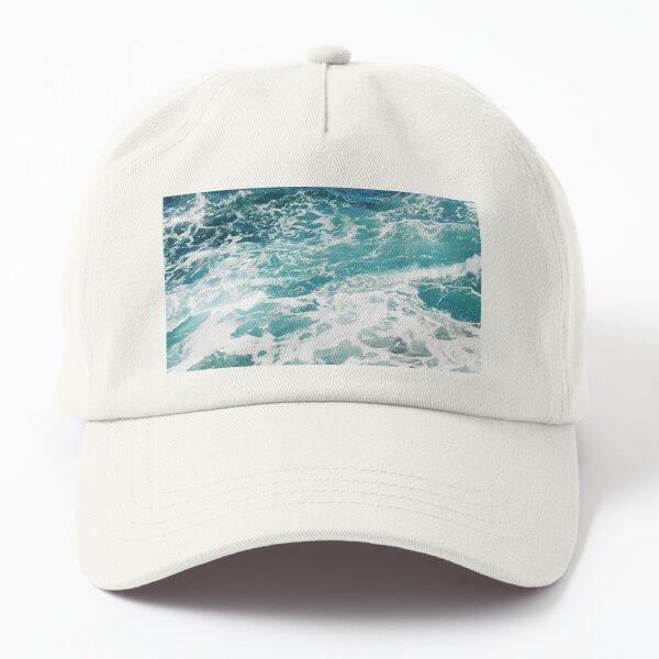 Blue Ocean Waves  Dad Hat