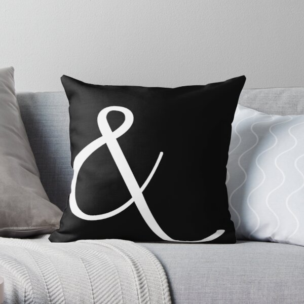 Fancy Ampersand - 2 (White) Throw Pillow