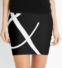 Fancy Ampersand - 2 (White) Mini Skirt