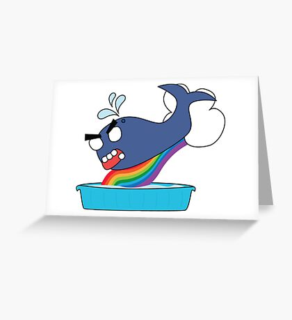 angry zombie whale vs kiddie pool Greeting Card