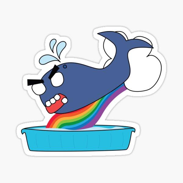 angry zombie whale vs kiddie pool Sticker
