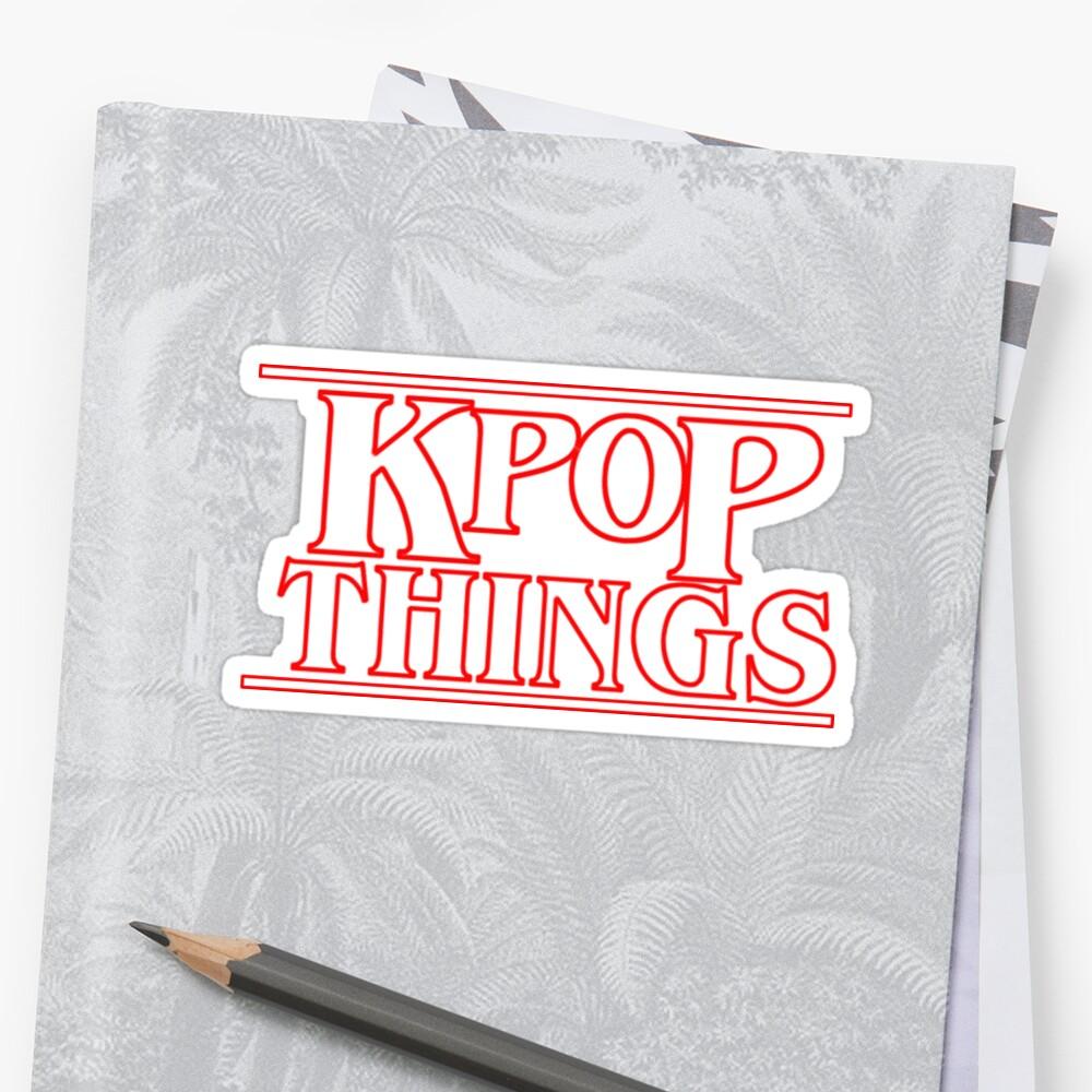 """""""KPOP THINGS"""" - Fremde Dinge inspiriert Logo Sticker"""