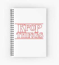 """KPOP THINGS"" - Stranger Things Inspired Logo Spiral Notebook"