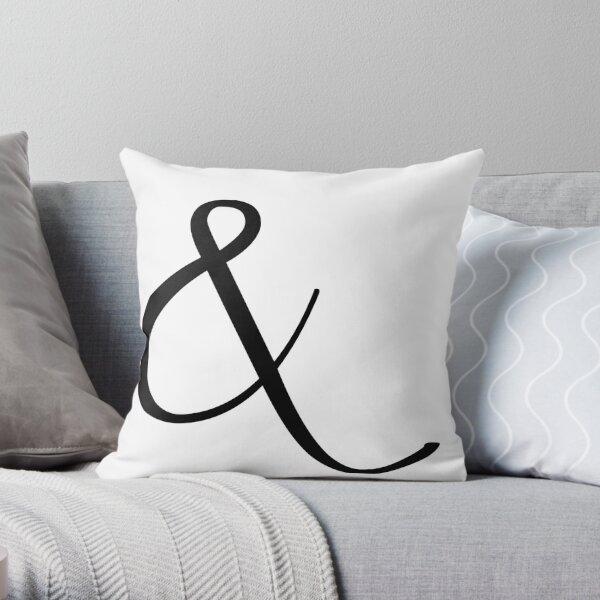 Fancy Ampersand - 1 (Black) Throw Pillow