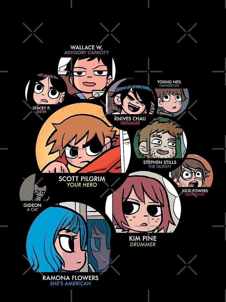 Scott Pilgrim characters by JessicaComplex