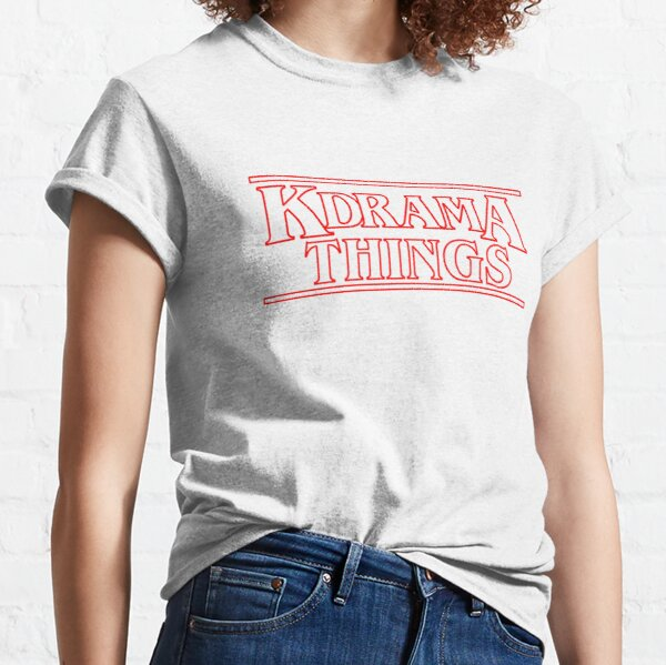 """KDRAMA THINGS"" - Stranger Things Inspired Logo Classic T-Shirt"