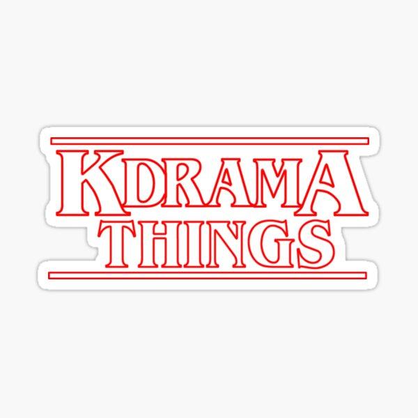 """KDRAMA THINGS"" - Stranger Things Inspired Logo Sticker"
