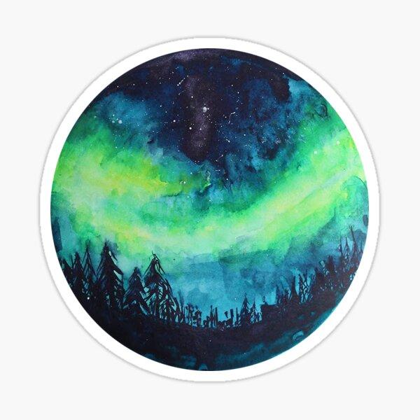 Aurora Borealis Watercolor Sticker
