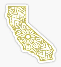 California Mandala Sticker