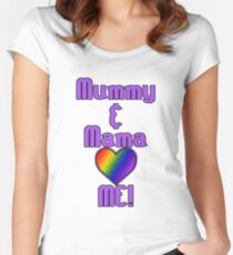 Mummy & Mama Love Me | Lesbian Parenting Women's Fitted Scoop T-Shirt
