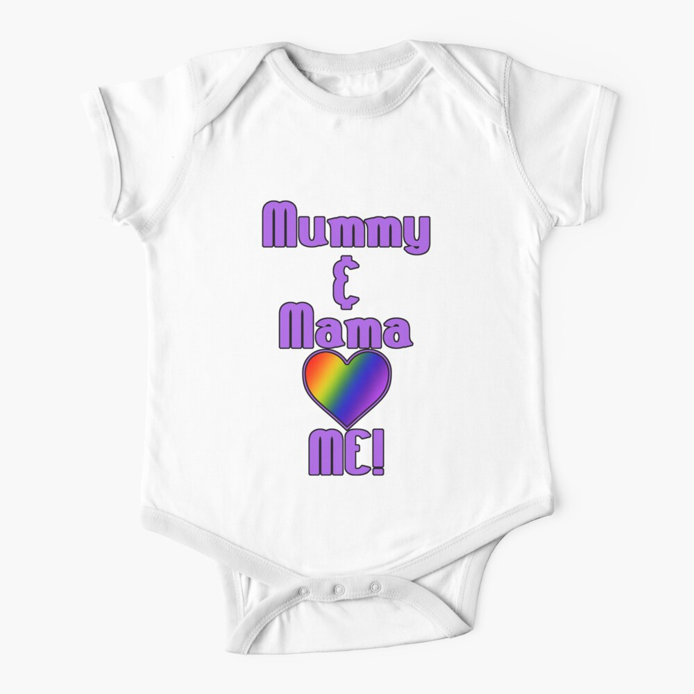 Mummy & Mama Love Me   Lesbian Parenting Baby One-Piece