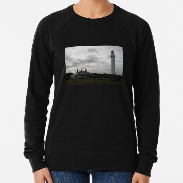 Dramatic Lighthouse on Hill Lightweight Sweatshirt
