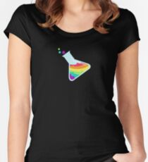 Rainbow Beaker Women's Fitted Scoop T-Shirt