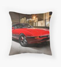 Nick Bruzzese's Mazda RX7 Throw Pillow