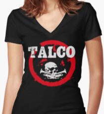 Ska Punk Talco Women's Fitted V-Neck T-Shirt